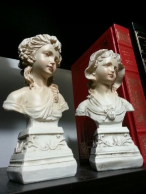 Vintage French Victorian Statues Pair