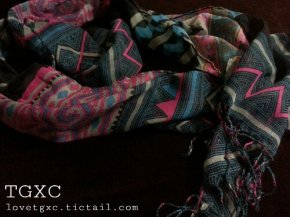 Hmong Scarf Asian Tribal Print