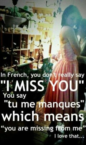"""I Miss You"" in French"