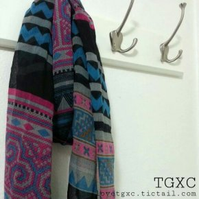 Asian Tribal Print Scarf