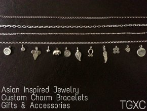 Asian Inspired Custom Charm Bracelets by TGXC