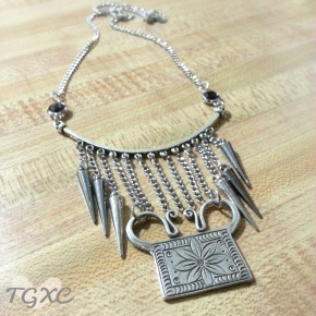 Lotus Soul Lock Statement Necklace